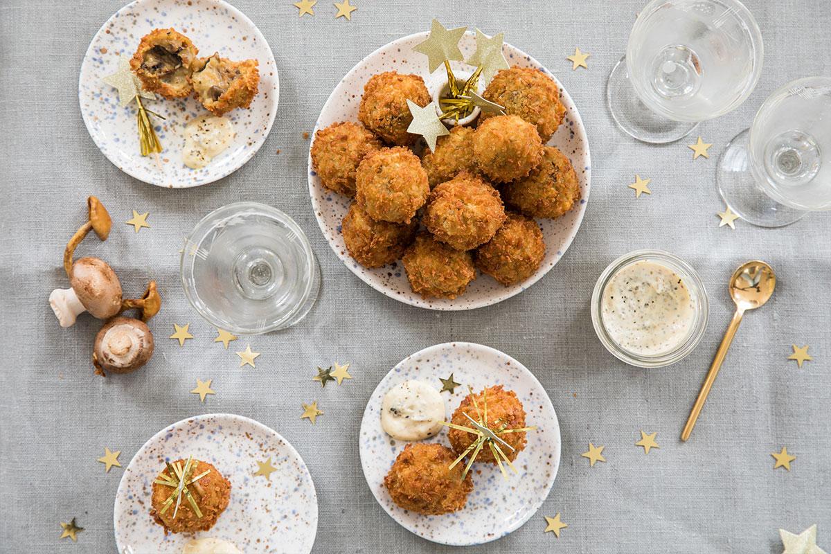 Bitterballen met paddenstoel en truffel