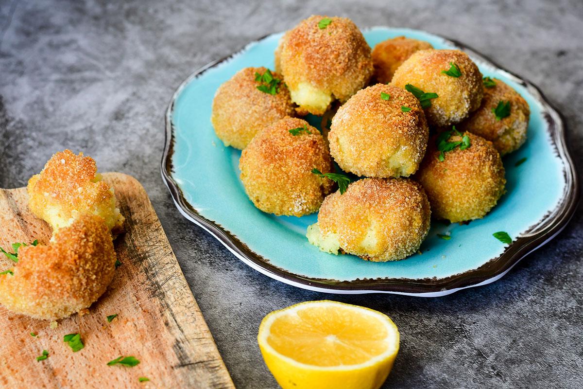Veggie Fry recept: Oud Hollandse kaas/bloemkool bitterbal