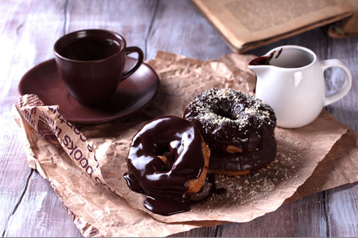 Zwarte donuts