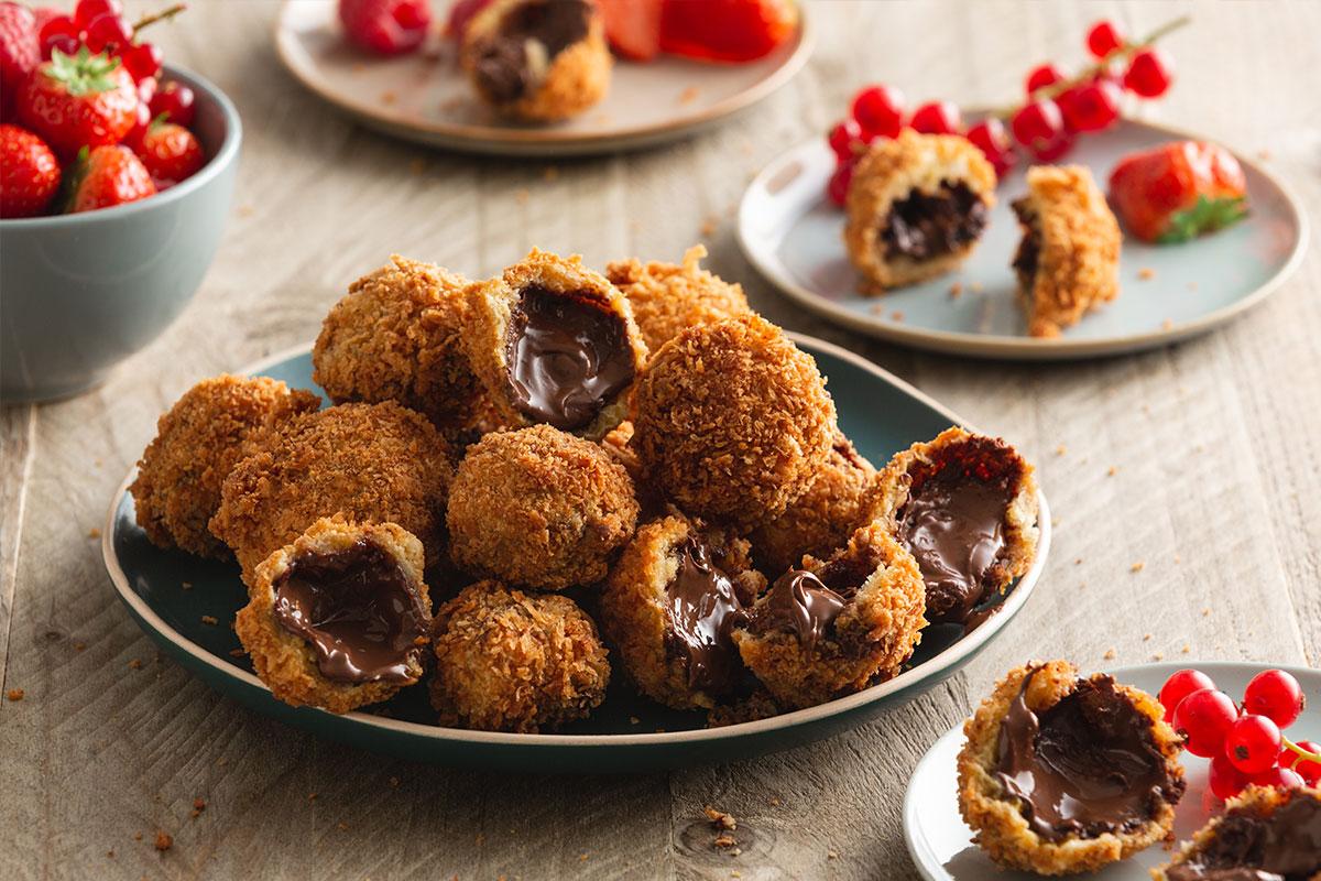 Gefrituurde Nutella bollen